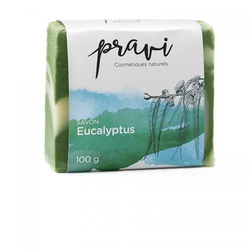 Savon naturel à huile essentielle d'eucalyptus