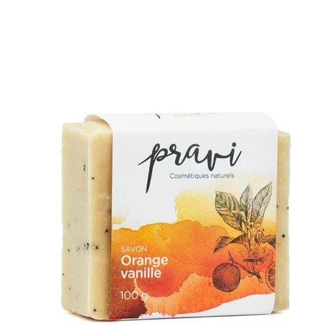 Savon orange-vanille orange-vanilla soap Pravi