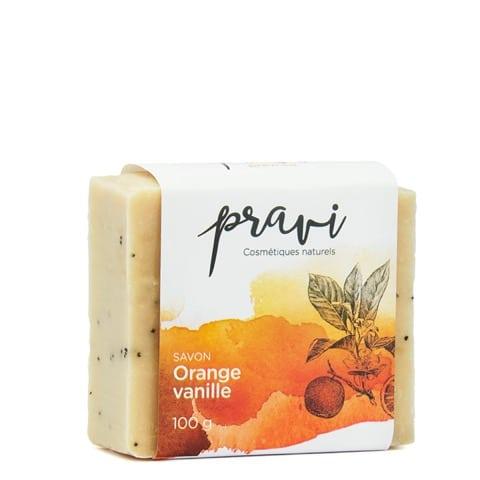 Savon orange-vanille