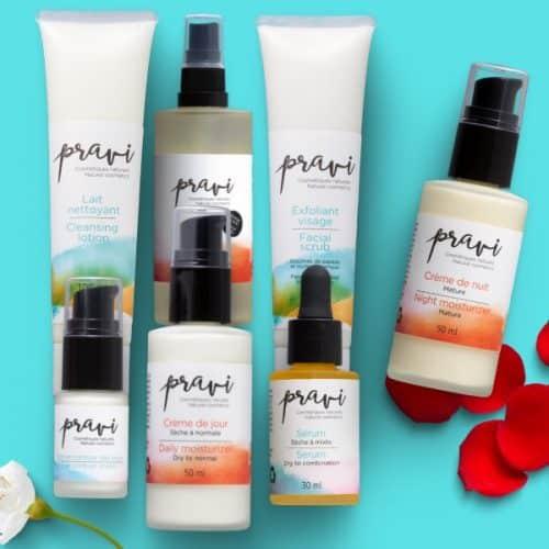 Combo routine complète Pravi cosmétiques naturels